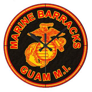 Logo marin de la Guam de caserne Grande Horloge Ronde