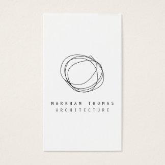Logo minimal et moderne de griffonnage de cartes de visite