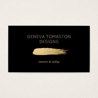 Logo minimaliste II de concepteur de traçage d'or Cartes De Visite
