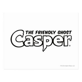 Logo noir d'ensemble de Casper Carte Postale