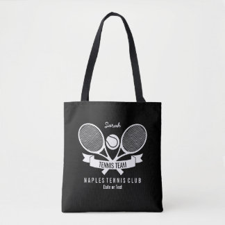 Logo noir fait sur commande personnalisé par boule tote bag