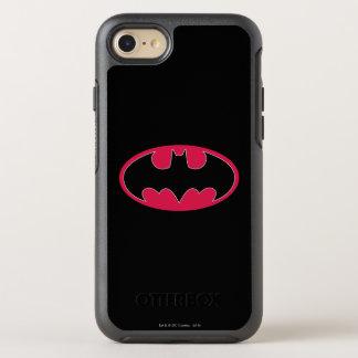 Logo noir rouge du symbole | de Batman Coque OtterBox Symmetry iPhone 8/7
