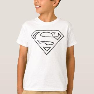 Logo noir simple d'ensemble du S-Bouclier   de T-shirt