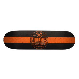 Logo orange de Rods de rat Planches À Roulettes Customisées