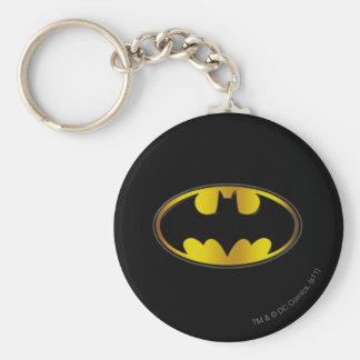 Logo ovale de gradient du symbole | de Batman Porte-clé Rond