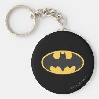 Logo ovale du symbole | de Batman Porte-clé Rond