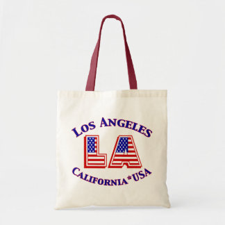 Logo patriotique de Los Angeles Etats-Unis Sac De Toile