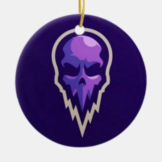 logo pourpre violet de crâne de conception ornement rond en céramique