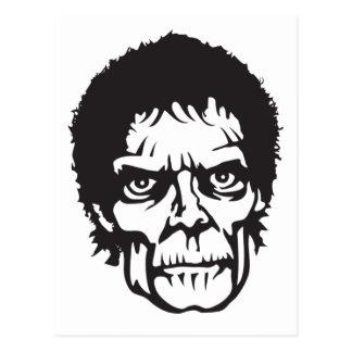 Logo principal de zombi carte postale