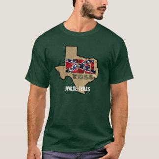 Logo rebelle de hurlement, Uvalde, le Texas T-shirt