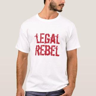 Logo rebelle juridique de rouge de T-shirt