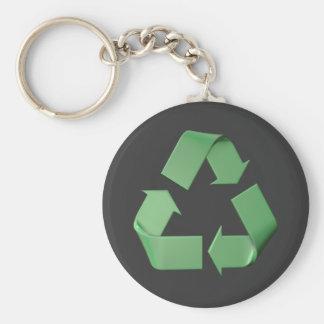Logo recyclage porte-clé rond