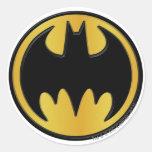 Logo rond classique du symbole   de Batman Sticker Rond