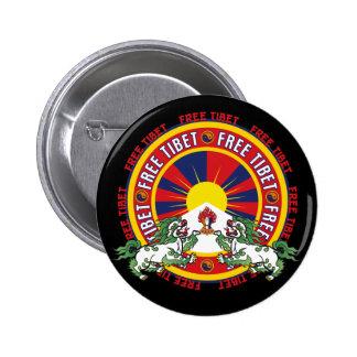 Logo rond libre du Thibet Badges