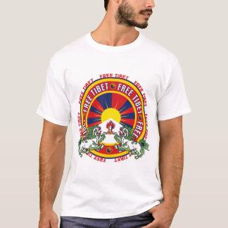 Logo rond libre du Thibet T-shirt