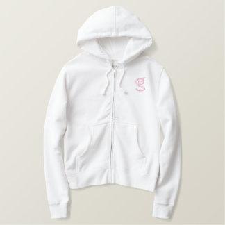 Logo rose blanc du sweat - shirt à capuche W de