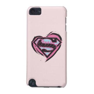 Logo rose de Supergirl au coeur Coque iPod Touch 5G