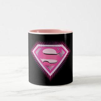 Logo rose de Supergirl Tasse 2 Couleurs