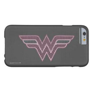 Logo rose et noir de femme de merveille de coque barely there iPhone 6
