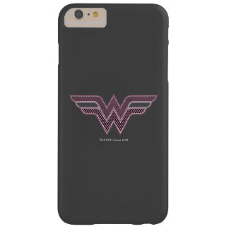 Logo rose et noir de femme de merveille de coque iPhone 6 plus barely there