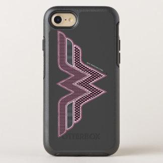 Logo rose et noir de femme de merveille de coque otterbox symmetry pour iPhone 7