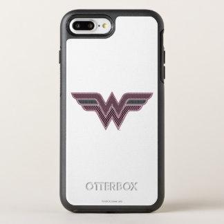 Logo rose et noir de femme de merveille de coque otterbox symmetry pour iPhone 7 plus