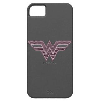 Logo rose et noir de femme de merveille de étui iPhone 5