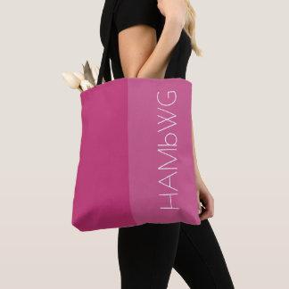 Logo rose/rose de sac de HAMbWG - de fourre-tout