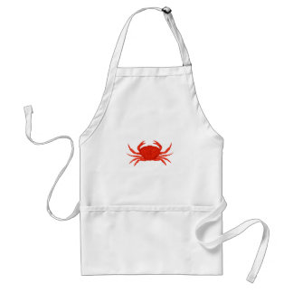 Logo rouge de crabe de Dungeness Tablier