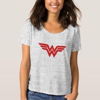 Logo rouge de femme de merveille t-shirt