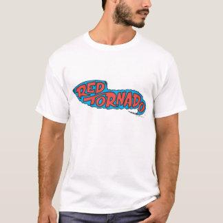 Logo rouge de tornade t-shirt