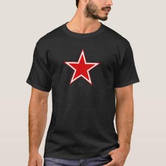 Logo rouge d'étoile t-shirt