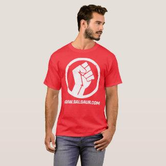Logo rouge d'hommes souterrains de T-shirt de