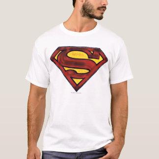 Logo rouge obscurci par | de S-Bouclier de T-shirt