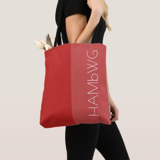 Logo rouge/rouge de sac de HAMbWG - de fourre-tout