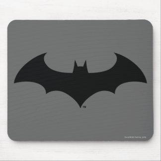 Logo simple de silhouette de batte du symbole | de tapis de souris