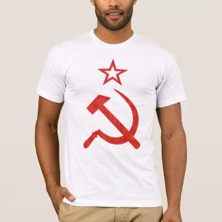 Logo soviétique de marteau, de faucille et t-shirt