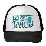 Logo tiré par la main du lac Tahoe Casquettes De Camionneur