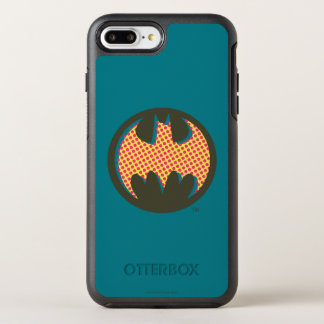 Logo tramé rouge du symbole | de Batman Coque Otterbox Symmetry Pour iPhone 7 Plus