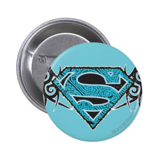 Logo tribal de motif de Supergirl Badge Avec Épingle