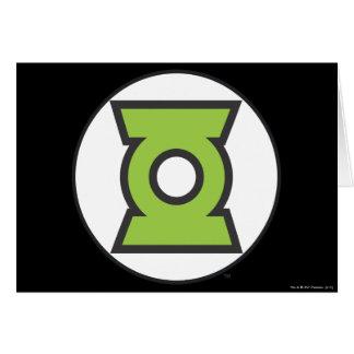 Logo vert 11 de lanterne carte de vœux