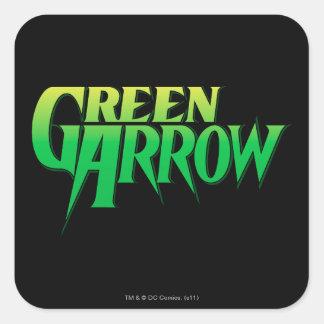 Logo vert 3 de flèche stickers carrés