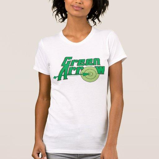 Logo vert de flèche t-shirts