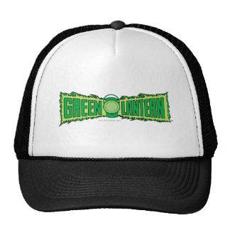 Logo vert de lanterne avec la lanterne casquettes