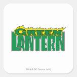 Logo vert de lanterne - flammes jaunes adhésif