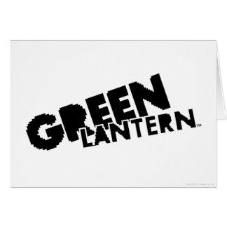 Logo vert de lanterne - pixels carte de vœux
