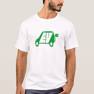 Logo vert d'icône du véhicule électrique EV - T-shirt