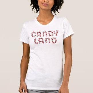 Logo vert et rouge de terre de sucrerie t-shirt