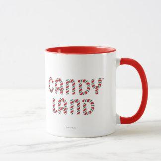 Logo vert et rouge de terre de sucrerie tasses