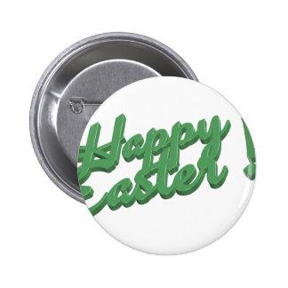 Logo vert heureux de Pâques Badges